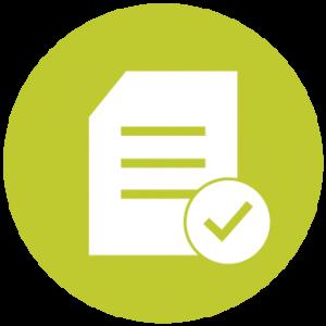 Icon symbolizing a checklist
