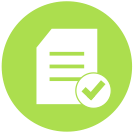 Icon for Project Management - checklist with check mark